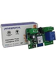 Interruptor Pulso Inteligente Wi-fi 7v 32v Automação Para Portão De Garagem, Persiana, Fechadura Eletrônica Compatível com Alexa