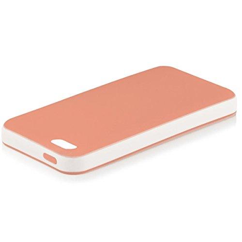 Apple iPhone 4 / 4S   Case Orange iCues Bicolor TPU   [Protecteur d'écran, y compris] gel de silicone Housse étui de protection couverture Coque Housse Sac Étui Case Cover