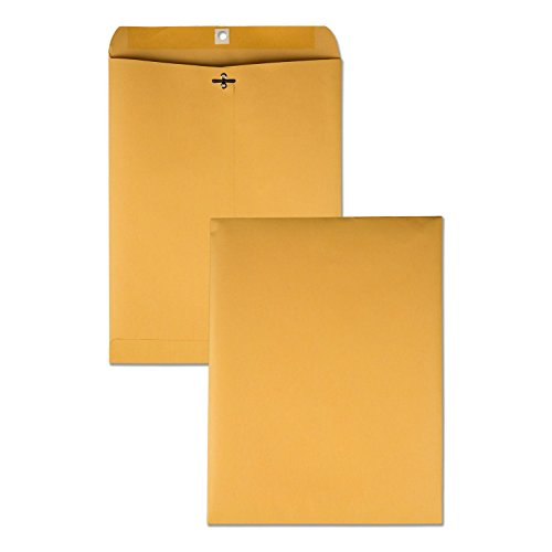 Quality Park Clasp Envelopes, 28lb, #97, 10 x 13 Inches, 250 Count of Kraft (37597) (Envelops Manila)
