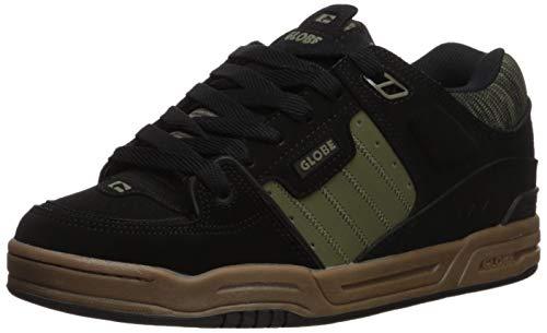Globe Men's Fusion Skate Shoe, Black/Olive/Knit, 8.5 Medium US