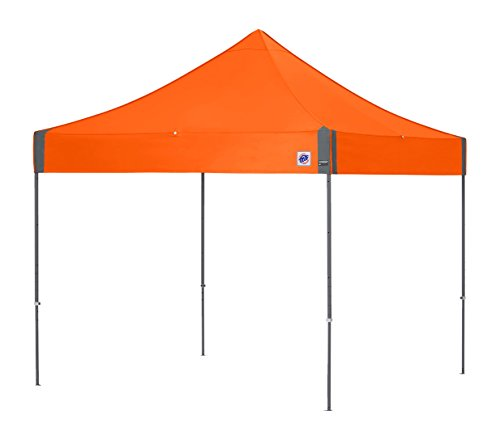 E-Z UP Enterprise Instant Shelter Canopy with Grey Frame and Steel Orange Top, 10' x 10'