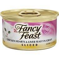 Fancy Feast Sliced Chicken Hearts & Liver Feast in Gravy Canned Cat Food, 3-oz, case of 12