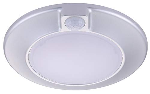 Cloudy Bay Motion Sensor Ceiling Light,120V 10W CRI90 5000K Bright Day Light,6.5 inch LED Flush Mount with Auto On/Off Sensor,Use for Garage,Walk-in Closet,Attic,Pantry Wet Location Silver Finish