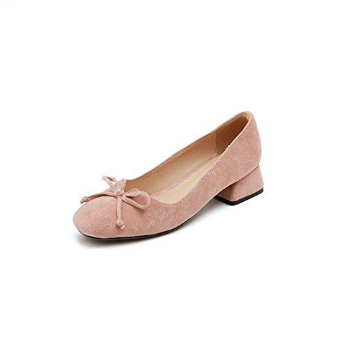 Otoño Puerto el de un Lilac Zapatos de seguida Primavera Bruto Número luz Satén la Zapatos en de Tacón Cuadrada Durante Pajarita de Gran Diamantes Cabeza y por UFY01PwYq