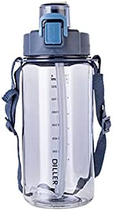 JIALI Sports Water Bottle, 1050ml/2000ml/4000ml Fast Flow Leak Proof Measuring Scale Reusable Water Cup for Ou