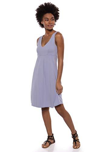 Texere Women's Empire Waist Casual Dress (Hinata, Icelandic Blue, M) Best Gift