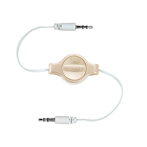 Scosche RePLAY-Retractable 3.5mm Auxiliary Audio Cable- Gold