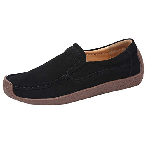 - Toimothcn Women's Casual Loafers Slip On Comfort Driving Boat Flat Boat Shoes Sneakers (Black,US:5.5)