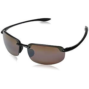 Maui Jim Unisex Ho'okipa Gloss Black/HCL Bronze Lens
