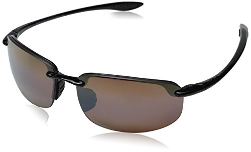 Maui Jim Unisex Ho'okipa Gloss Black/HCL Bronze Lens by Maui Jim