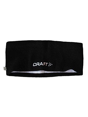 Craft Sportswear Unisex Running Training Fitness Workout Athletic Sport Wicking Headband, Black, Small/Medium