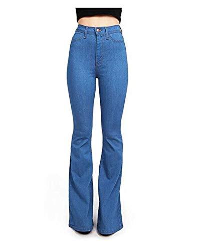 E America Kervinfendriyun Stretch A Corta Alta Yy3 Denim Sky Europa Nuovi Vita Jeans Blue Donna 7qwZA1P7