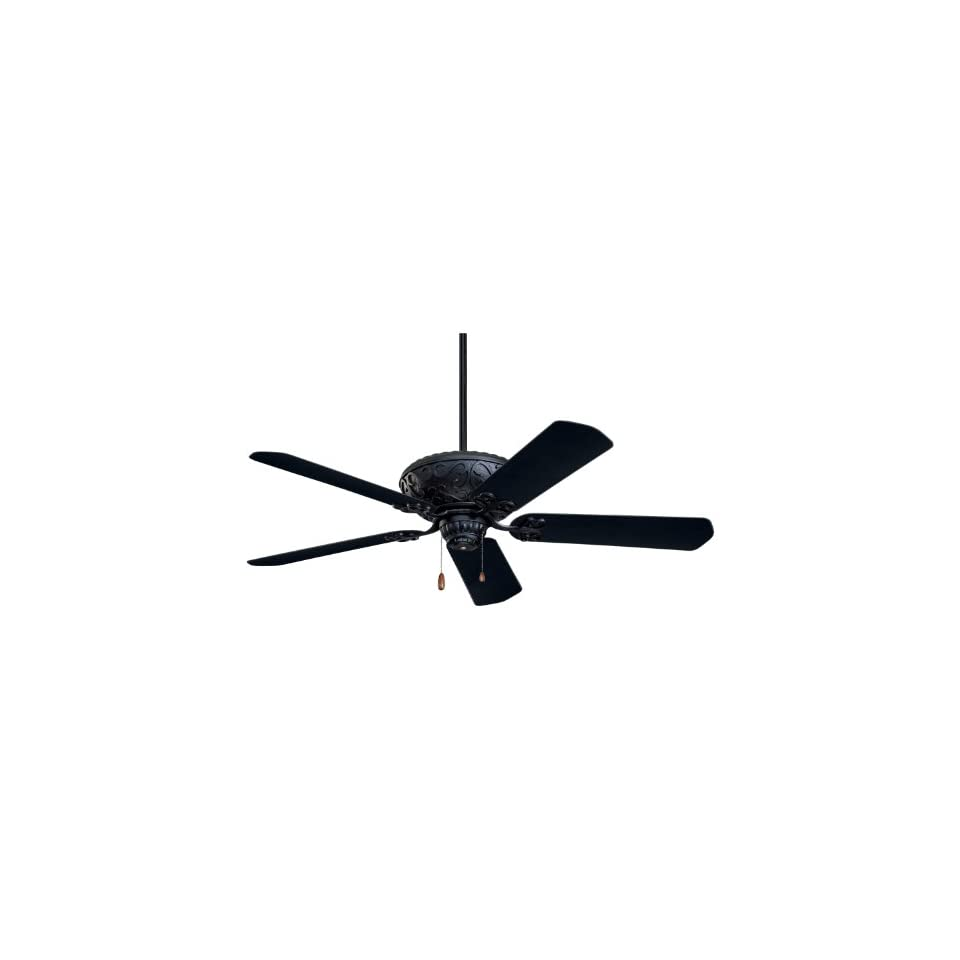Emerson CF670BQ Devonshire Indoor/Outdoor Ceiling Fan, 52 Inch Blade Span, Barbeque Black Finish and All Weather Barbeque Black Blades