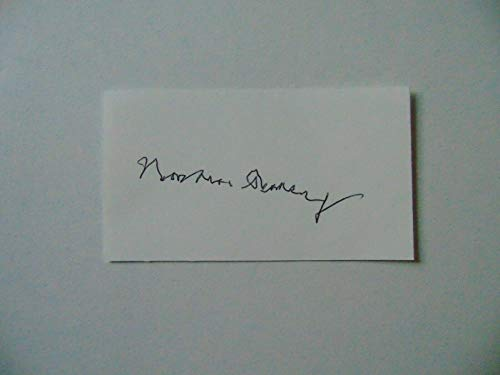 """Nobel Prize in Physics"" Norman Ramsey Hand Signed 2X3.5 Card JG Autographs COA from Unknown"