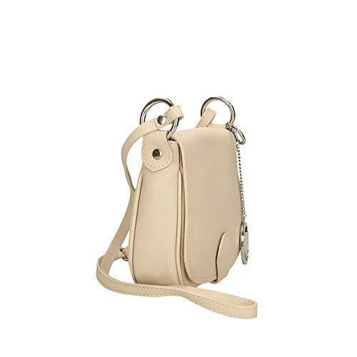 Pelle Cm Made Italy Beige A Chicca Borsetta 19x17x6 Spalla Borse In Bag wvM0HpYq