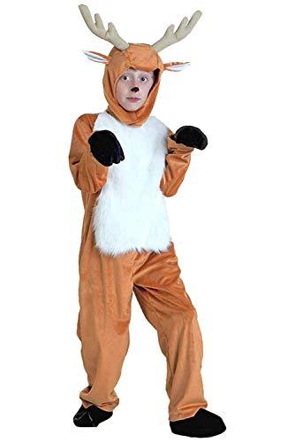 Mesodyn Kids Deer Costume Halloween Elk Cosplay Animals Jumpsuit ()