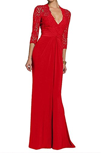 mujer Topkleider Topkleider Rojo Vestido Vestido para para r7qXB07