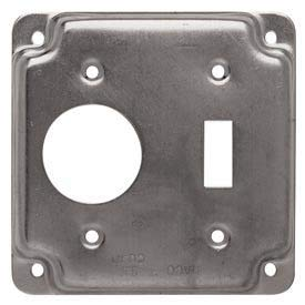 Hubbell 805c 4'' Square Exposed Work Cover, One Toggle Switch & One 1.406 Diam. Hole - Pkg Qty 10, (Pack of 5) (805C)