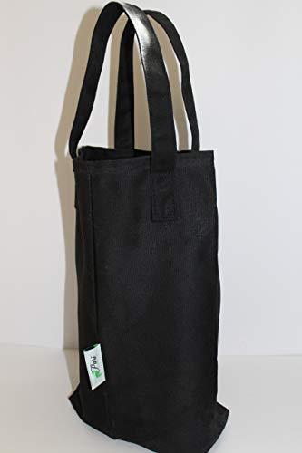 Lunch Bag   Ideal For Carrying Lunchbox, Convenient For Teenagers To Adults, Multipurpose, Picnic School & Office Use, Waterproof & Reusable, Handmade From Waxed Canvas, Best Gift Item (Black)