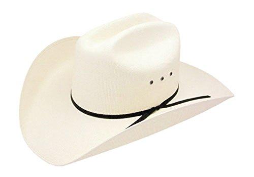 (Resistol Denison - (7X) Bangora Straw Cowboy Hat (L))