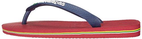 Mujeres De Havaianas Rojo Brasil Flop Flip Logo Sandalias pxpFCB