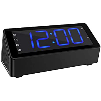 Amazon Com Fm Alarm Clock Radio With Usb Charging Amp Audio