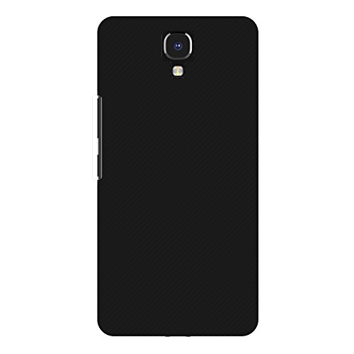 31db024E78L AMZER Slim Fit Handcrafted Designer Printed Hard Shell Case Back Cover for Infinix Note 4 - Carbon Black With Texture.
