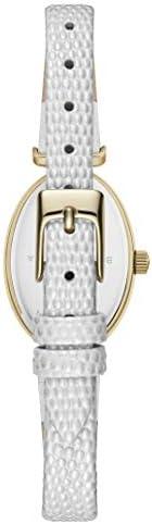 BCBGMAXAZRIA Women's Classic Stainless Steel Japanese-Quartz Watch with Leather Strap, White, 7.4 (Model: BG50910003)