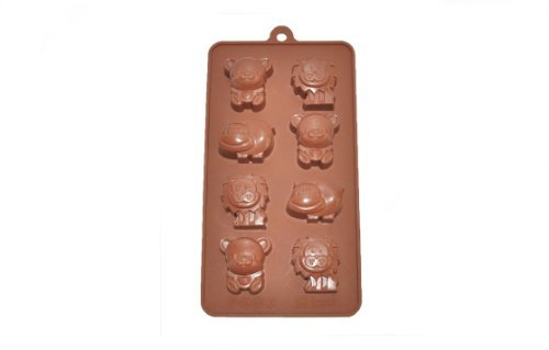NY Cake Animals Silicone Chocolate Mold, 8 Cavities