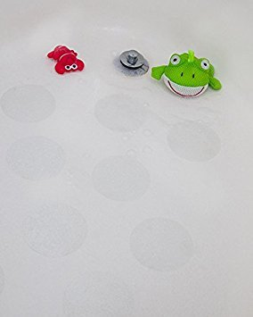 4'' Adhesive Bath Safety Circles - Non Skid Adhesive Shower Stickers Appliques Treads (Clear)