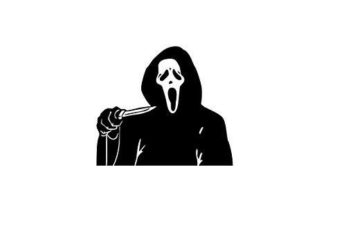 Quality Prints - Laminated 36x24 Vibrant Durable Photo Poster - Halloween Art - Image of Scream mask CreepyHalloweenImages]()