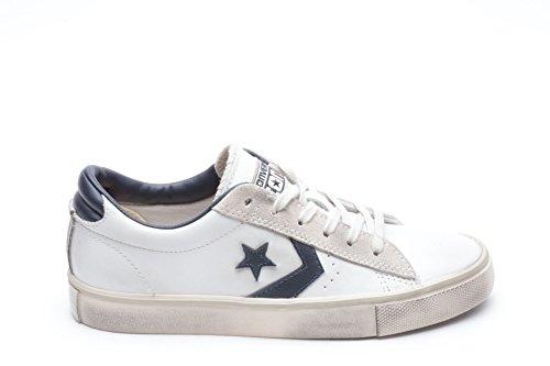 Converse Pro Leather Vulc Ox, Sandalias con Plataforma Unisex Adulto Bianco-blu