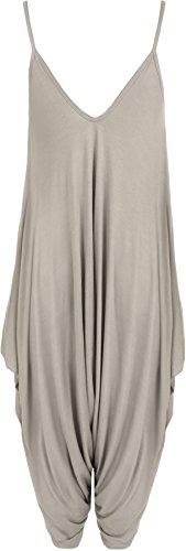 20 Caraco Lagenlook Robe Haut Combinaison combinaison Sarouel Baggy Femmes 10 WearAll Gris lanires awz5HPxZWq