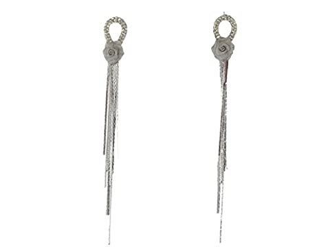 Dokreil Fashion Design Metal Super Long Tail Wire Tassel Drop Dangel Vintage Flower Lightweight Women's Earings Gold Silver Tone Ideal for Party Prom Pageant - Design Metal Fashion