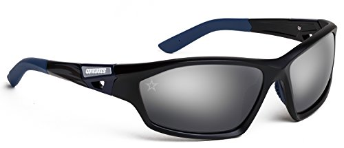 Officially Licensed NFL Sunglasses, Dallas Cowboys, 3D Logo on Temple - 100% UVA, UVB & UVC - Sunglasses 3d