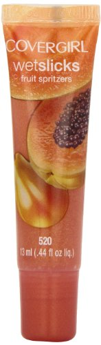 CoverGirl Wetslick Fruit Spritzers, Papaya Splash 520, 0.44-Ounce Packages (Pack of 2) (Spritzers Fruit Wetslicks Splash)