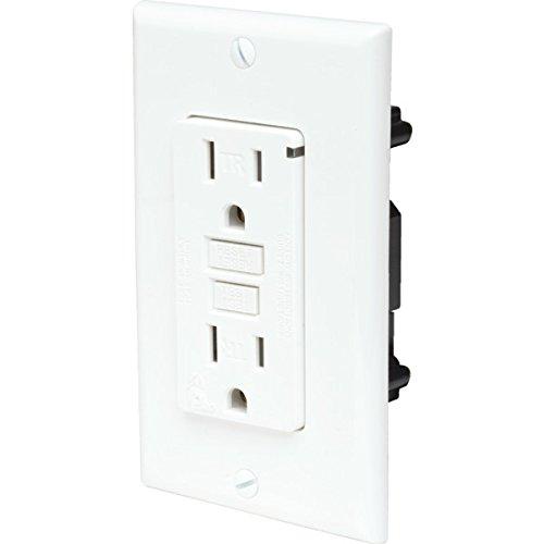 15 Amp 125 Volt Commercial Self Test LED Tamper Resistant GFCI White