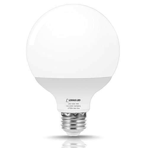 LOHAS G30 Globe LED 100W Equivalent Light Bulb, 2700K Warm White Bulbs, 1250 Lumens, 14Watt Light Bulbs for Pendent Fixtures, LED Lamp Replacing Incandescent Bulb, Not Dimmable