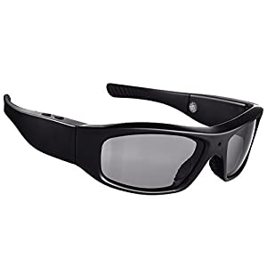Forestfish Sunglasses with Camera HD 720P Video Recorder Camera Glasses with 16GB TF Card Sports Polarized Sunglasses