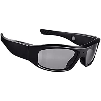 Forestfish Sunglasses with Camera HD 720P Video Recorder Camera Glasses with 8GB SD Card Sports Polarized Sunglasses