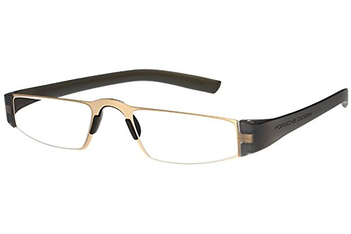 af7a2cd8d15 Porsche Design P8801 Eyewear Mens Ladies Stainless Steel Half-Eye Readers  Size 48-