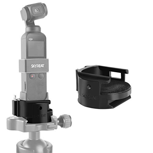 (Skyreat Osmo Pocket WiFi Tripod Adapter Stand Mount,Wireless Module Base for DJI Osmo Pocket Gimbal Accessories)