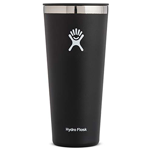 Hydro Flask Tumbler Cup - Stainless Steel & Vacuum Insulated - Press-In Lid - 32 oz, Black