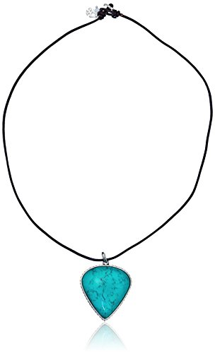 """Lucky Brand Turquoise Pendant Necklace, 19"""""""