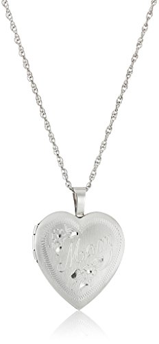 Sterling Silver Mom Heart Locket (Sterling Silver Heart