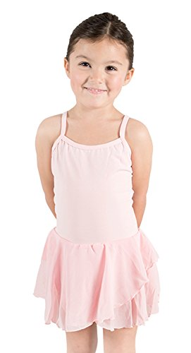 STELLE Girl's Camisole Dress Leotard For Dance, Gymnastics and Ballet(Toddler/Little Girl/Big Girl)(M, Ballet Pink)