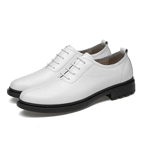 Hombre Negro Atyle Color 46 tamaño Soft de Caballeros Formales Jusheng Oxford Round Light Top Casual Blanco EU Negocios Zapatos Low Toe fxAadpq