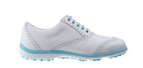 Footjoy Damen Casual Collection Golfschuhe, Weiß (White/Aqua), 40.5 EU