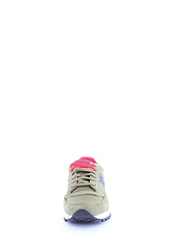 Saucony Sneakers Jazz in Camoscio e Nylon 2044 Green - Blue - red zBDXqW