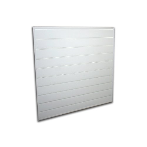 Proslat 88103 Heavy Duty PVC Slatwall Garage Organizer, 4-Feet by 4-Feet Section, White (Slatwall Unit)